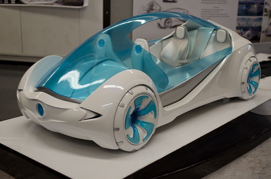 Amphibious car concept piece