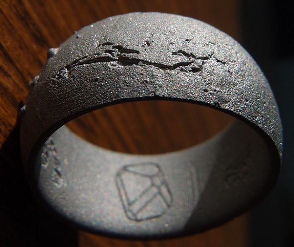 3D-printed ring of Mars' surface