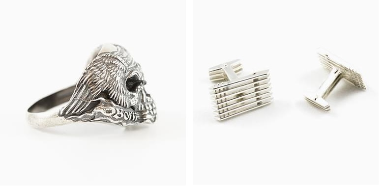 Examples of Silver 3D prints
