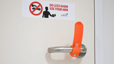 Slowing Coronavirus Spread With 3D-Printed Hands-Free Door Openers