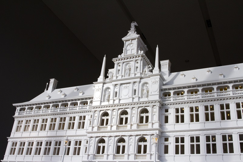 Miniature, 3D-Printed City Hall of Antwerp Shows off Every Last Detail