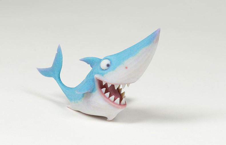 multicolor+ 3d-printed shark
