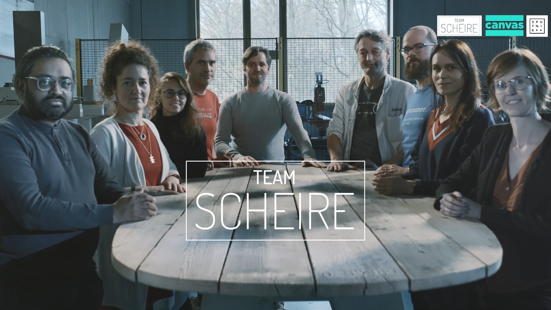 Materialise team on the Team Scheire TV show