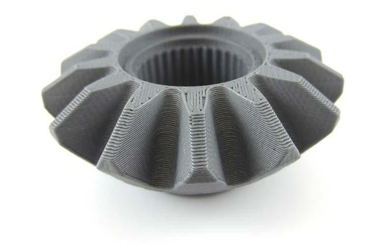 A model printed through FDM