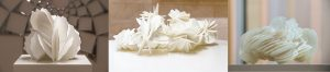3D-printed desert roses for his art pieces