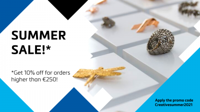 """The HeatIs On: Get 10% OffOnAll OrdersOver €250WithOurPromoCode """"Creativesummer2021""""!"""