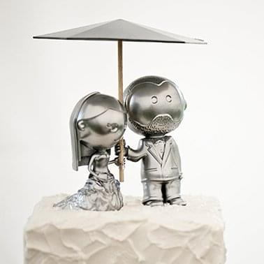Wedding Cake Topper by Josh Azevado ©Reece & Katrina