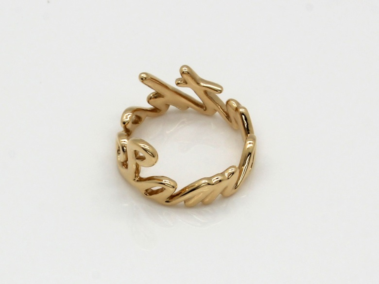 14K Gold Custom Name Ring 3D Printing Shop imaterialise