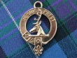 Clan Fraser of Lovat keyring in bronze