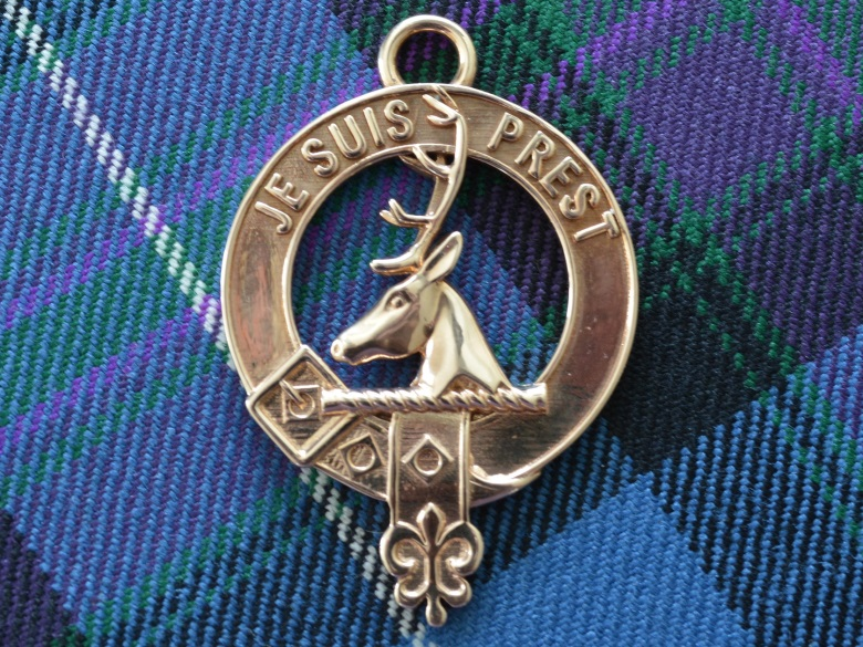 Clan Fraser of Lovat crest in polished bronze