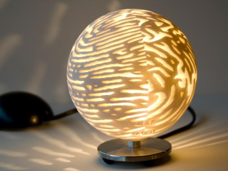 Fingerprint Lamp   3D Printing Shop   i materialise
